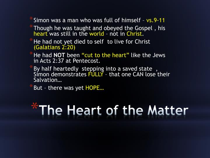 Simon was a man who was full of himself –