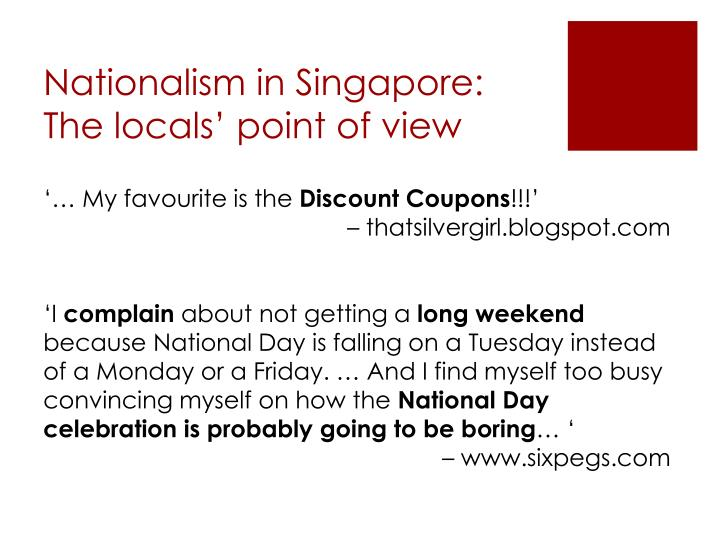 Nationalism in Singapore:
