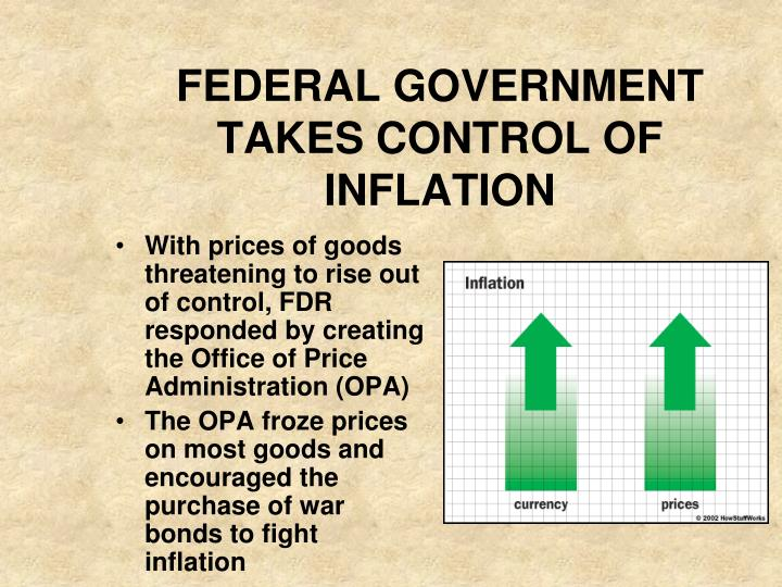 FEDERAL GOVERNMENT TAKES CONTROL OF INFLATION