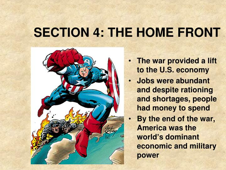 Section 4 the home front