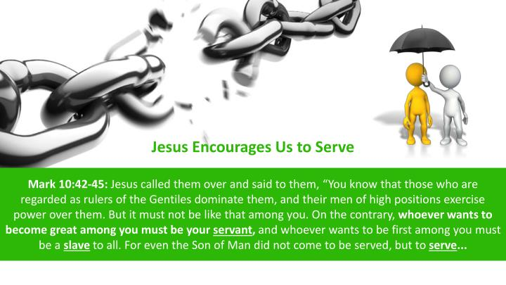 Jesus Encourages