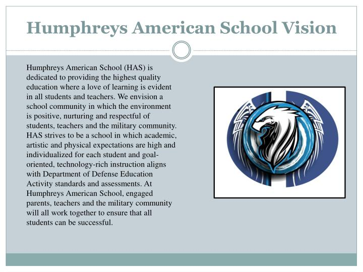 Humphreys American School Vision