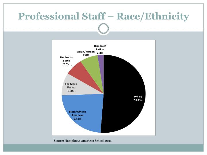 Professional Staff – Race/Ethnicity