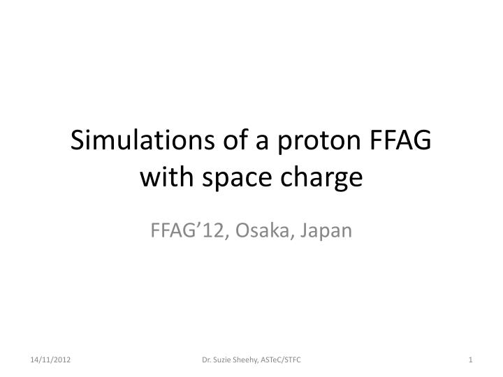 Simulations of a proton ffag with space charge