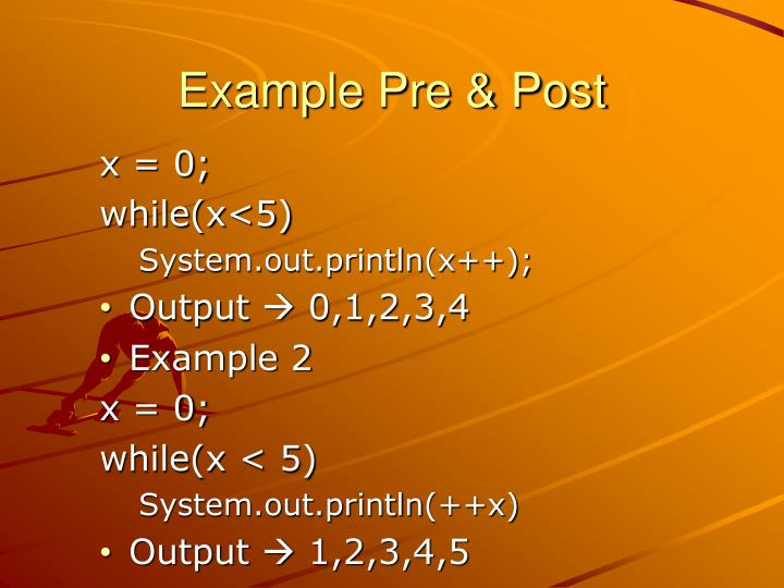 Example Pre & Post