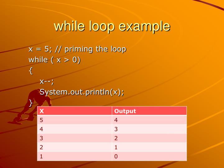 while loop example