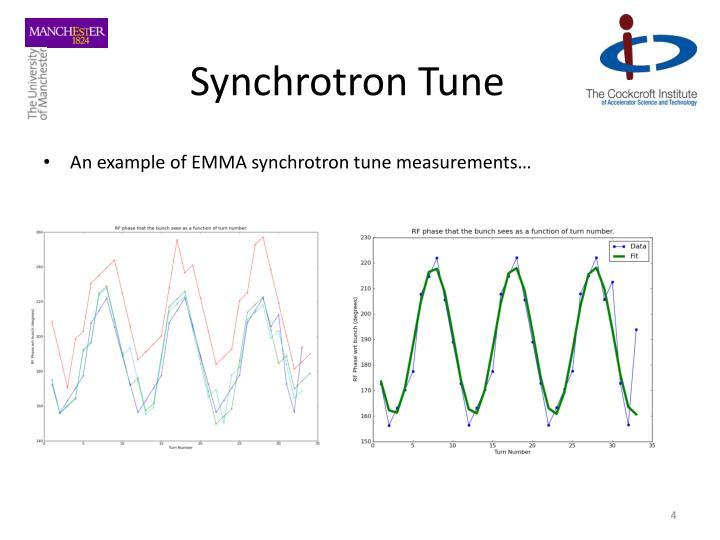 Synchrotron Tune