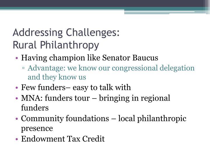 Addressing Challenges: