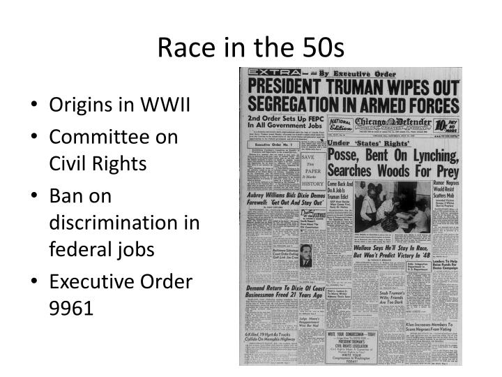 Race in the 50s