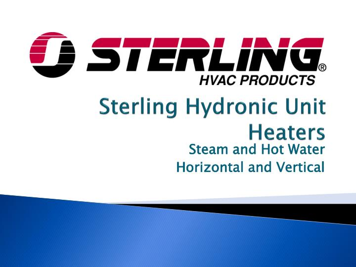 Sterling hydronic unit heaters