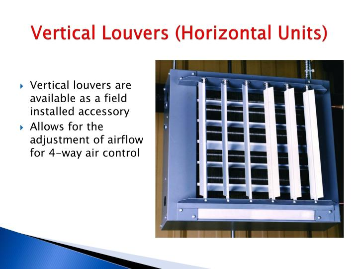 Vertical Louvers (Horizontal Units)