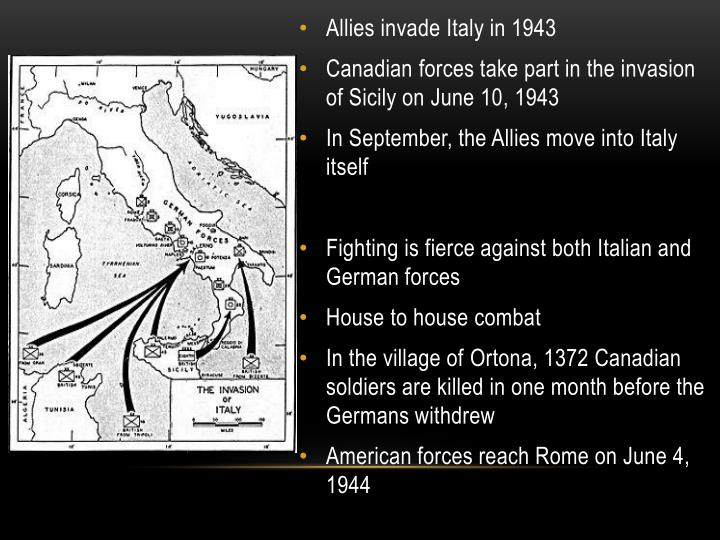 Allies invade Italy in 1943