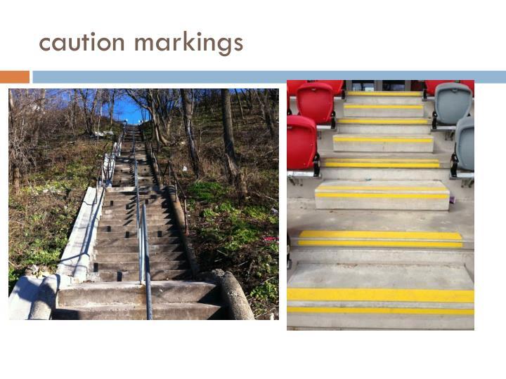 caution markings