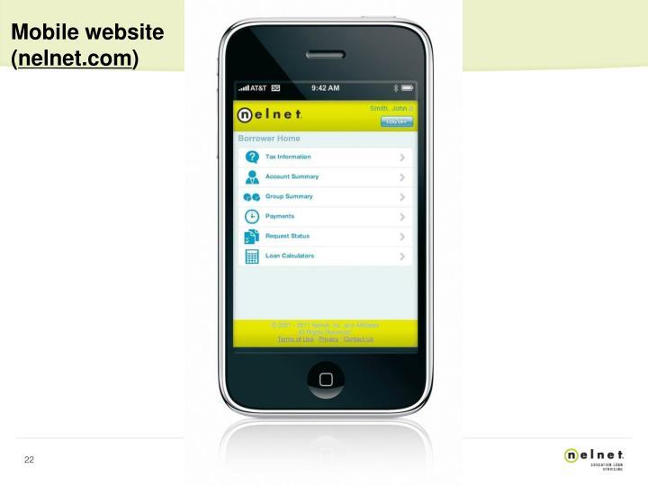 Mobile website (