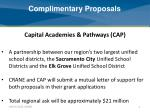 complimentary proposals