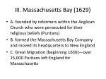 iii massachusetts bay 1629