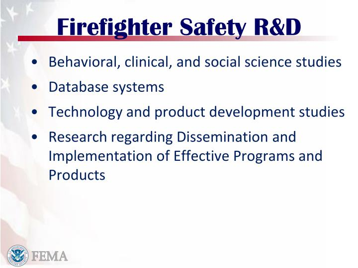 Firefighter Safety R&D