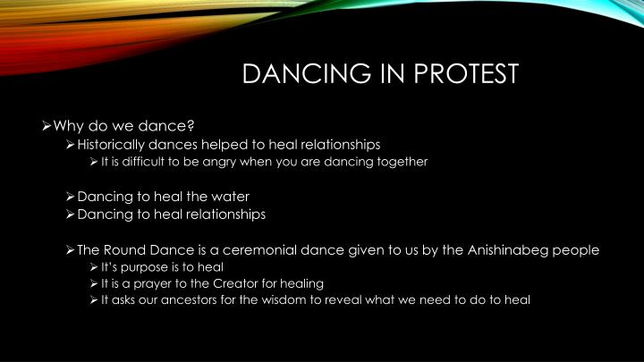 Dancing in protest