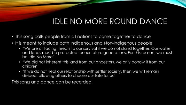 Idle No More Round Dance