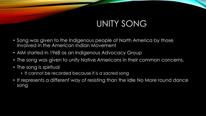 Unity Song