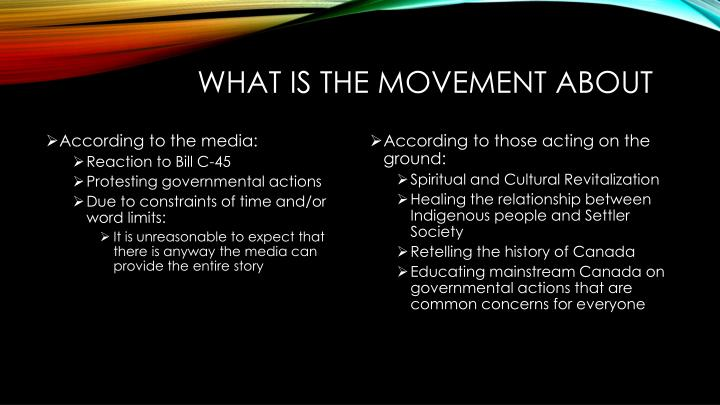 What is the movement about
