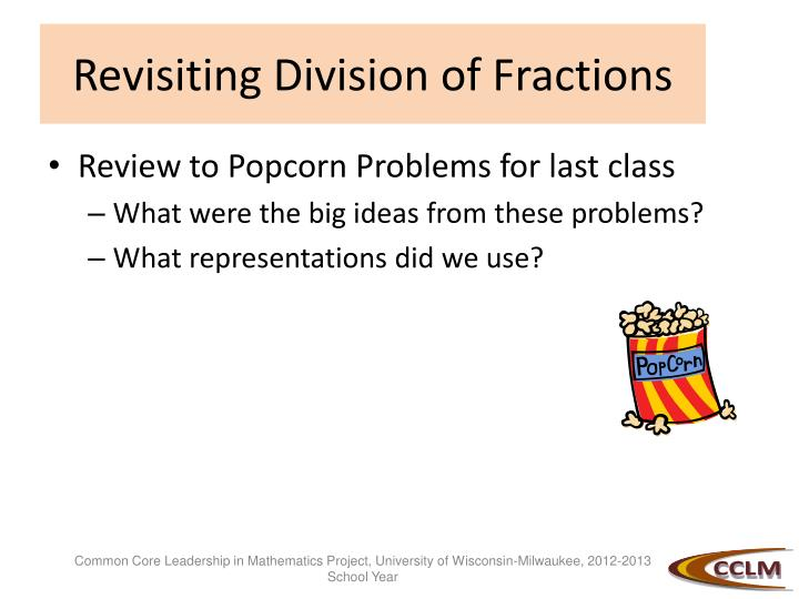 Revisiting Division of Fractions