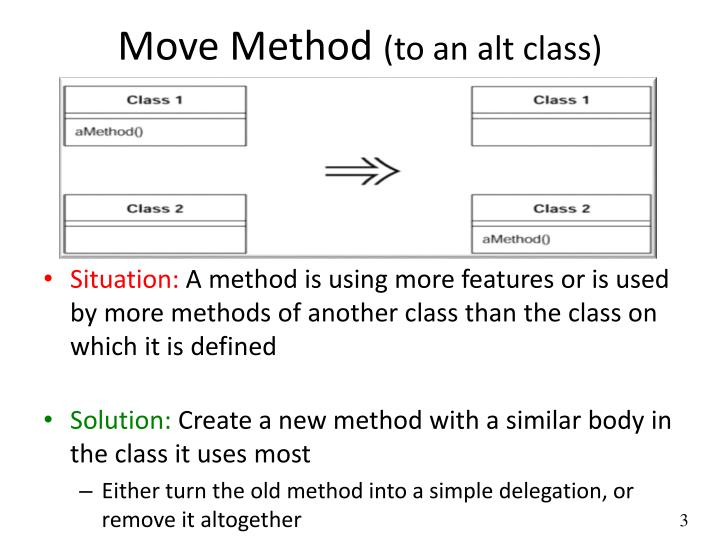 Move method to an alt class