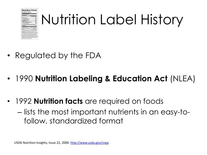 Nutrition Label History