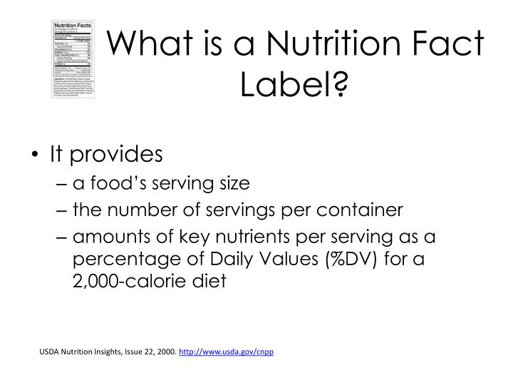 What is a Nutrition Fact Label?