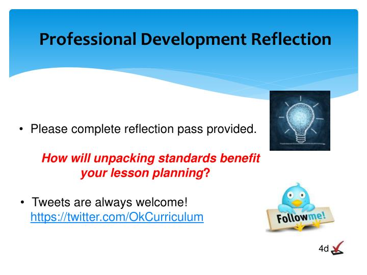 Professional Development Reflection