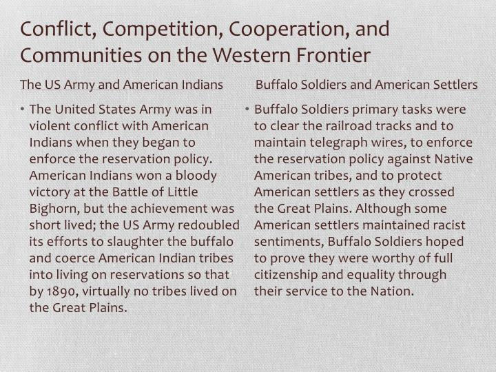 Conflict, Competition, Cooperation, and Communities on the Western Frontier