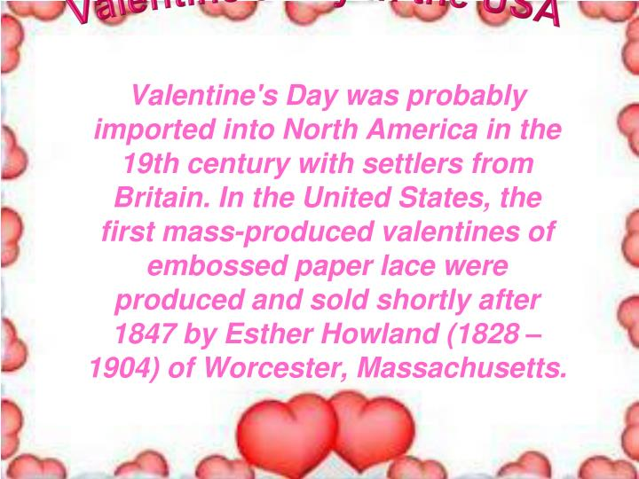 Valentine s day in the usa