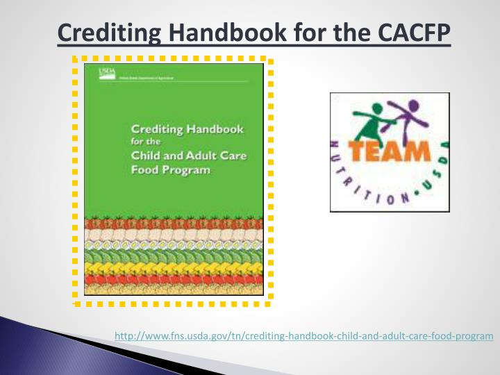 Crediting Handbook for the CACFP