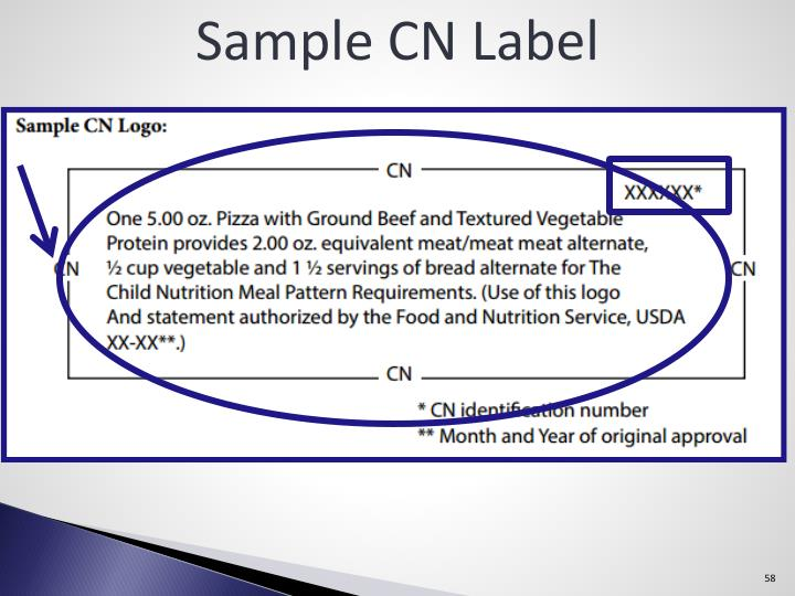 Sample CN Label