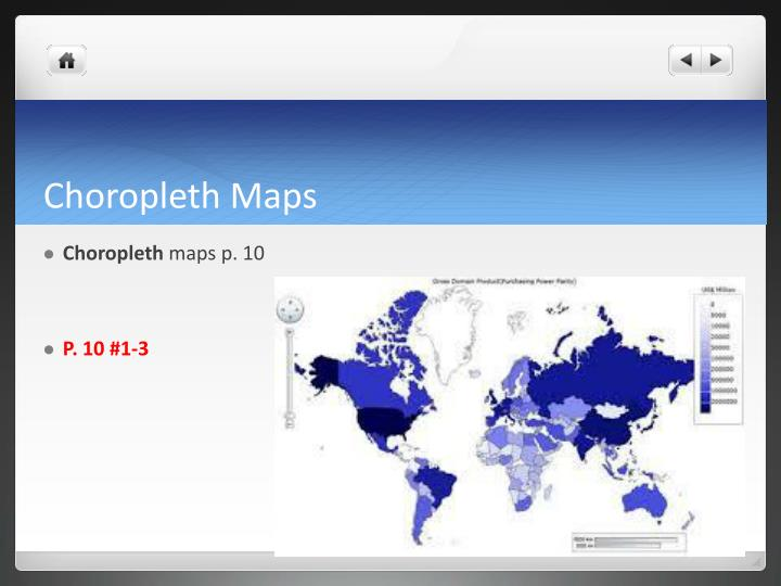 Choropleth maps