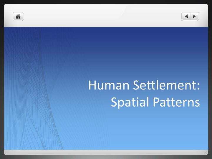Human settlement spatial patterns