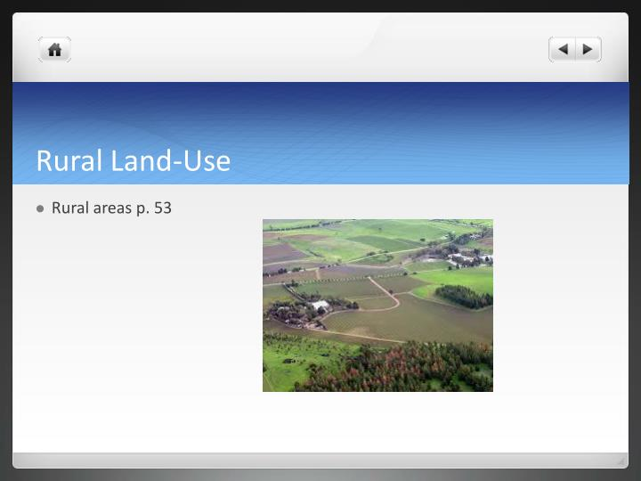 Rural Land-Use