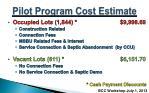 pilot program cost estimate1