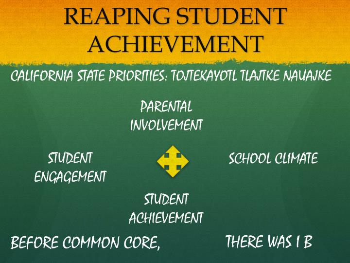 REAPING STUDENT ACHIEVEMENT