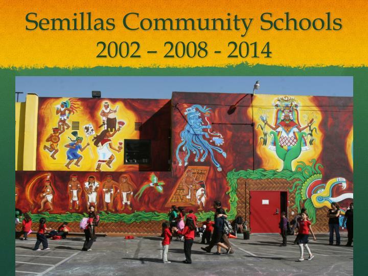 Semillas community schools 2002 2008 2014