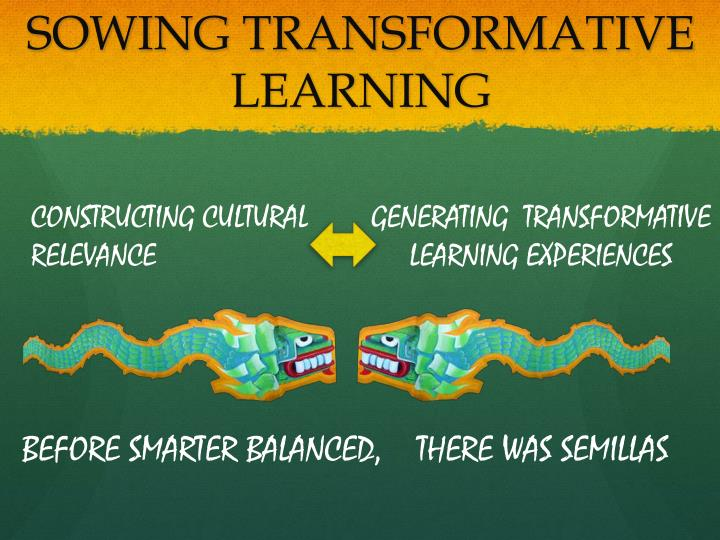 SOWING TRANSFORMATIVE LEARNING