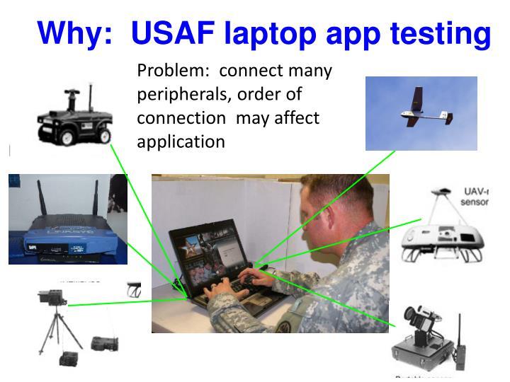 Why usaf laptop app testing