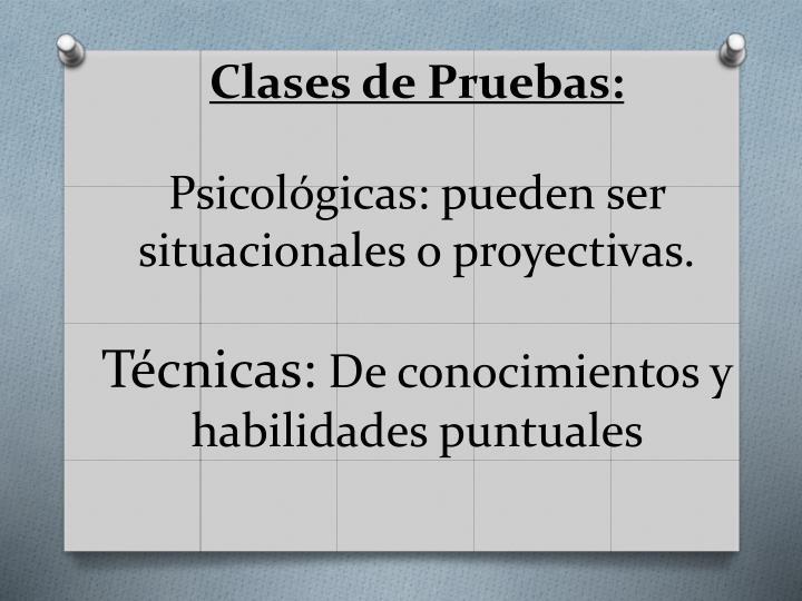 Clases de Pruebas: