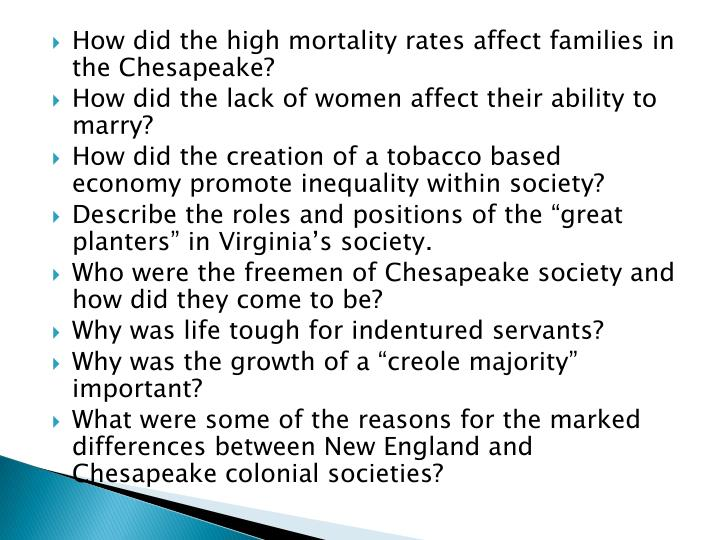 How did the high mortality rates affect families in the Chesapeake?