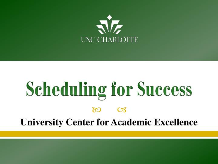 scheduling for success n.