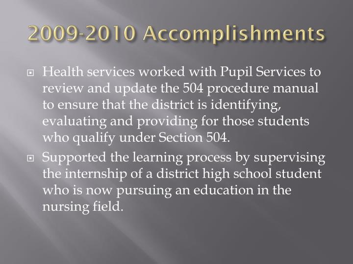 2009 2010 accomplishments1