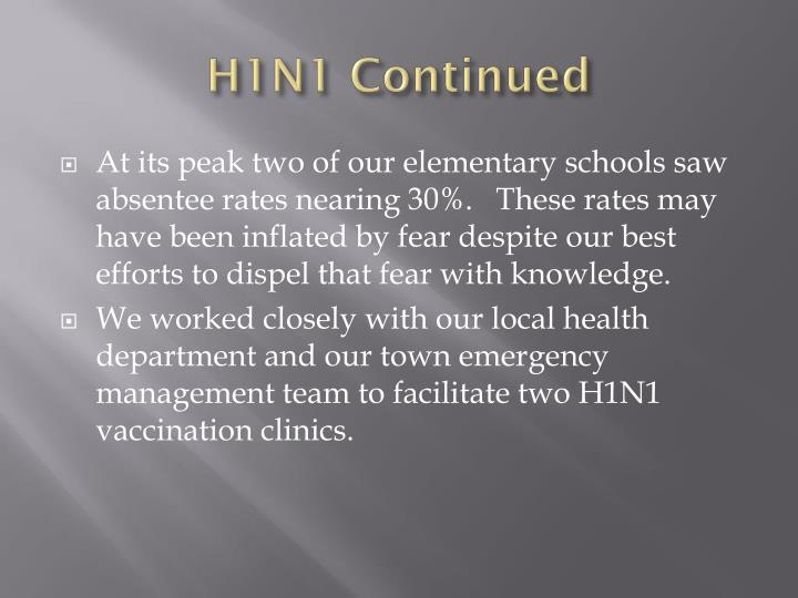 H1N1 Continued