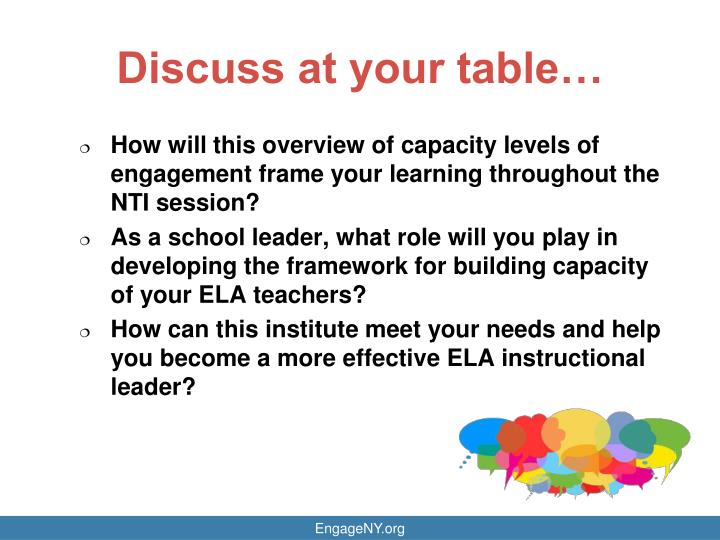 Discuss at your table…