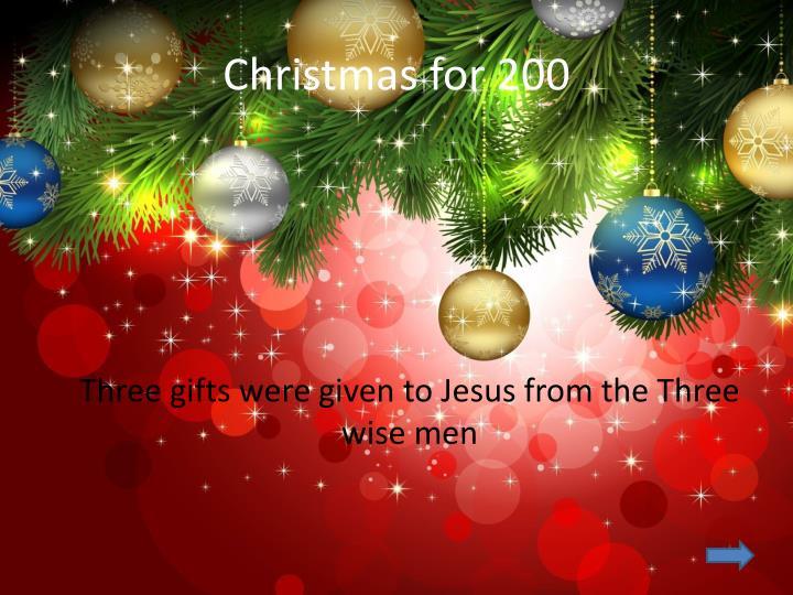 Christmas for 200