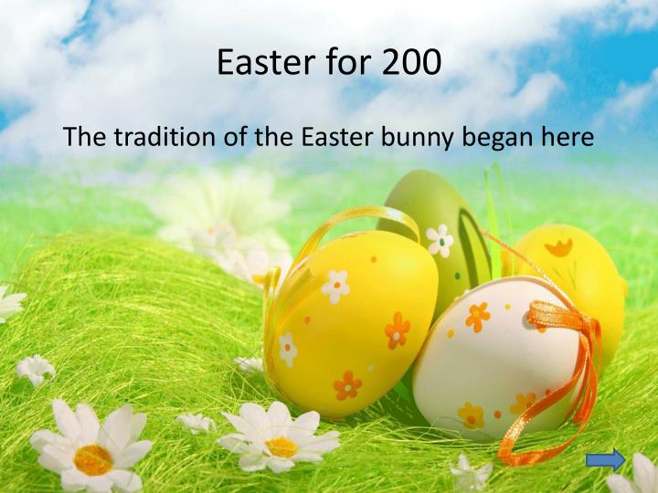 Easter for 200